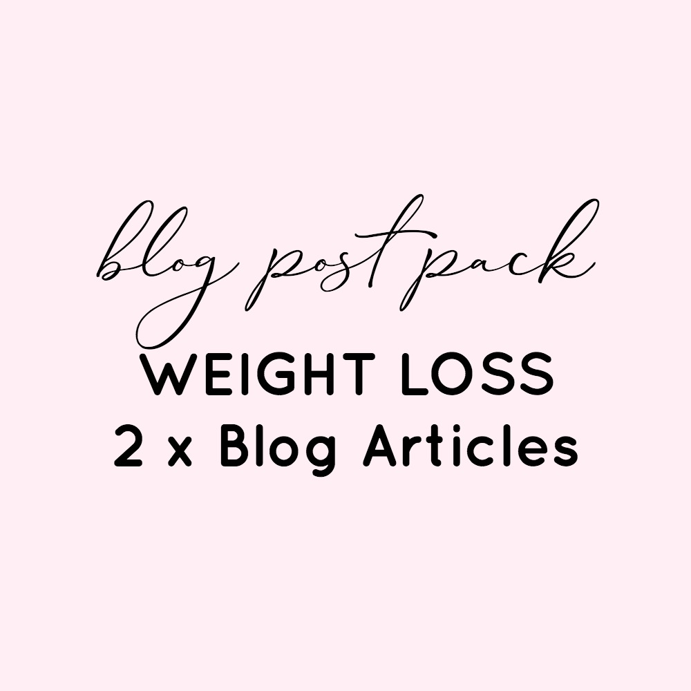 BLog Post Pack - Weight Loss