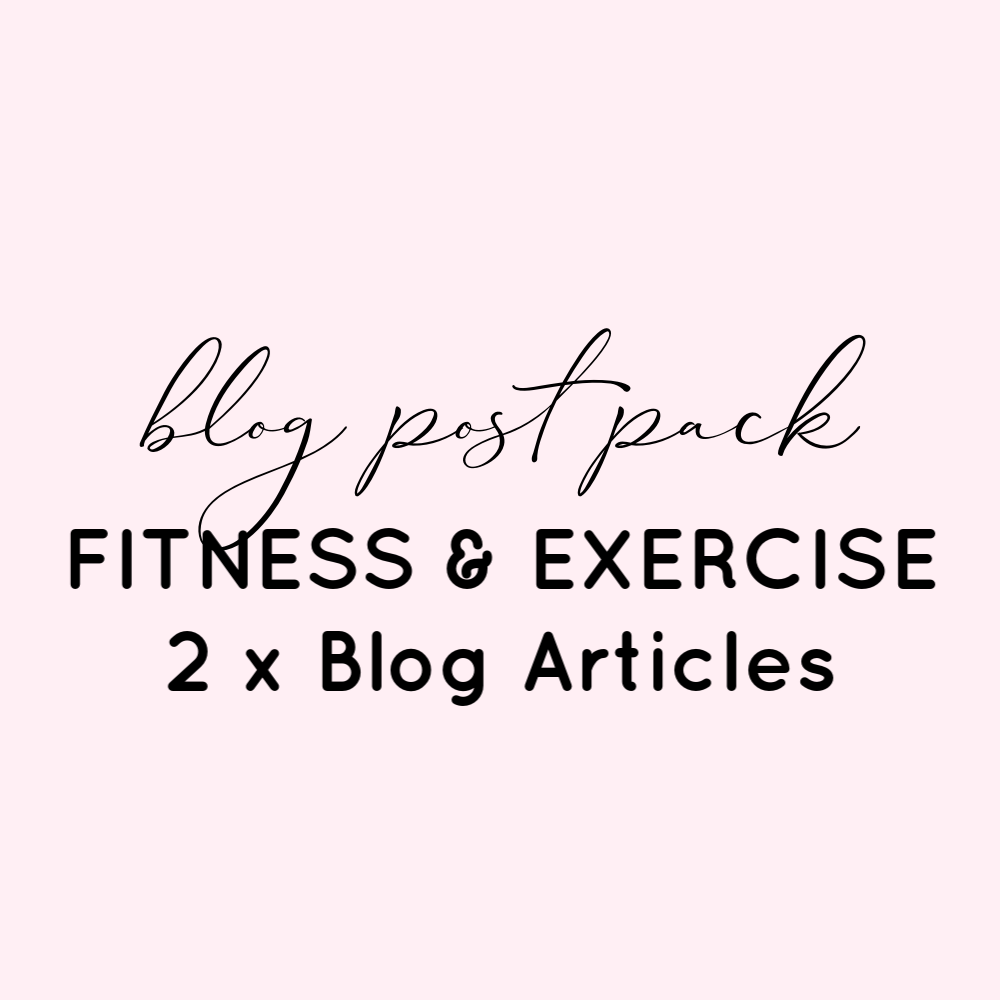 Blog Post Pack - Fitness