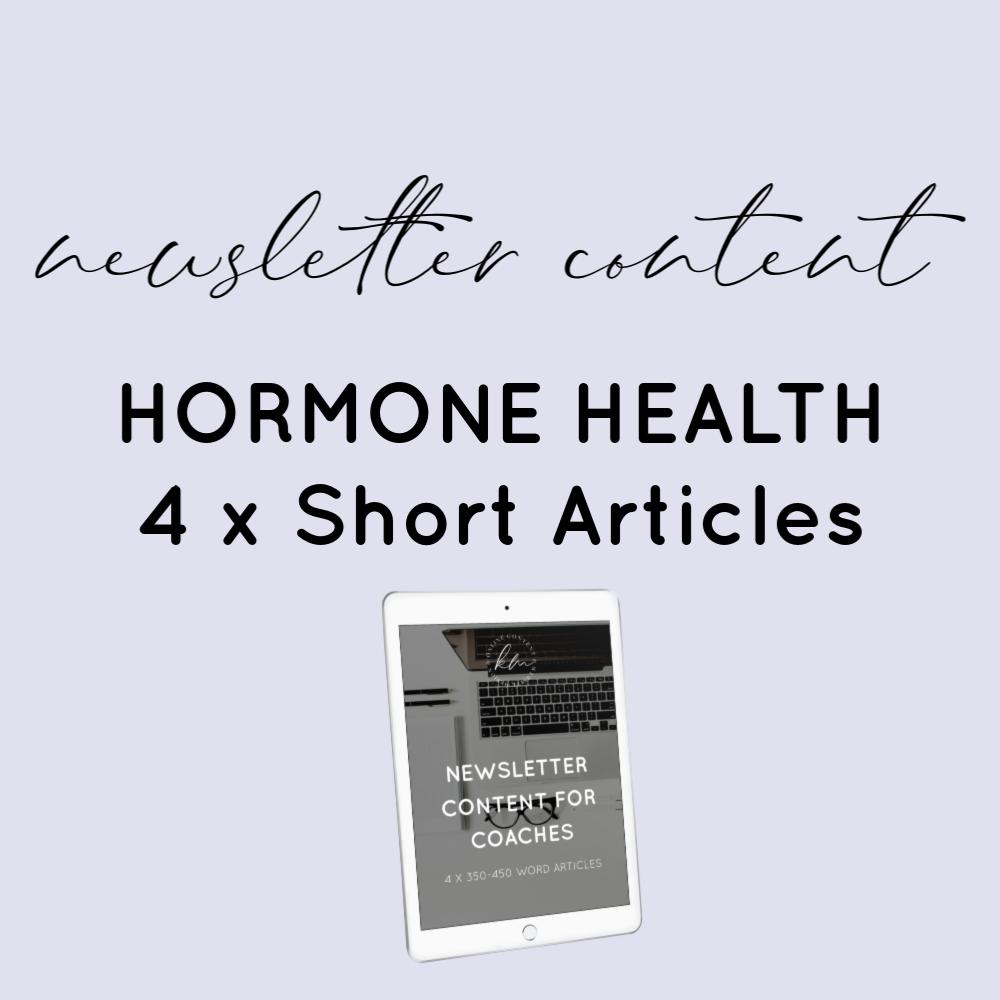 newsletter content hormones