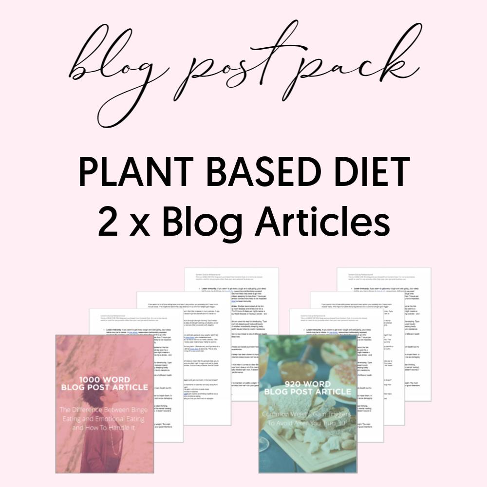 Blog Post Plant based diet