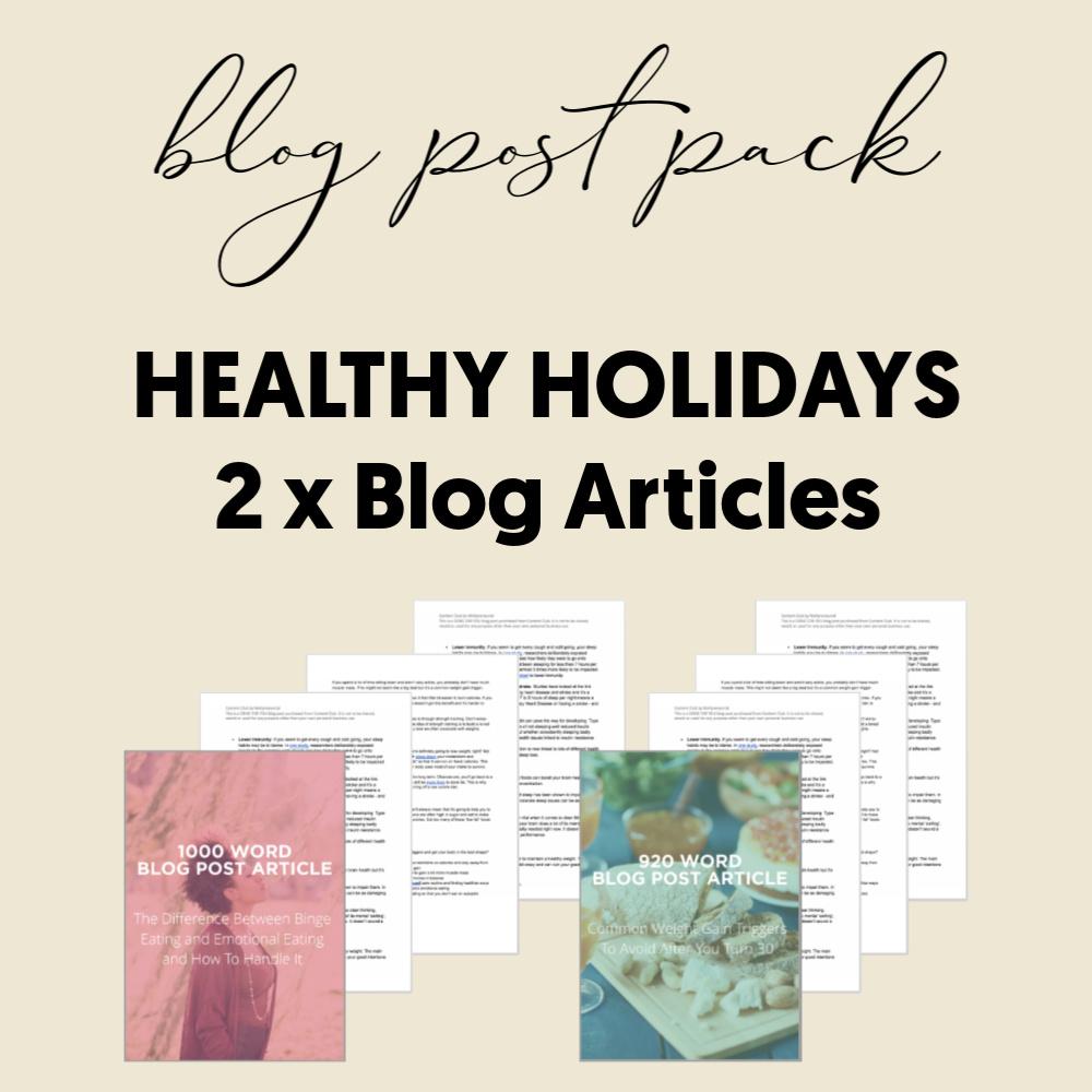 Blog Post HOliday