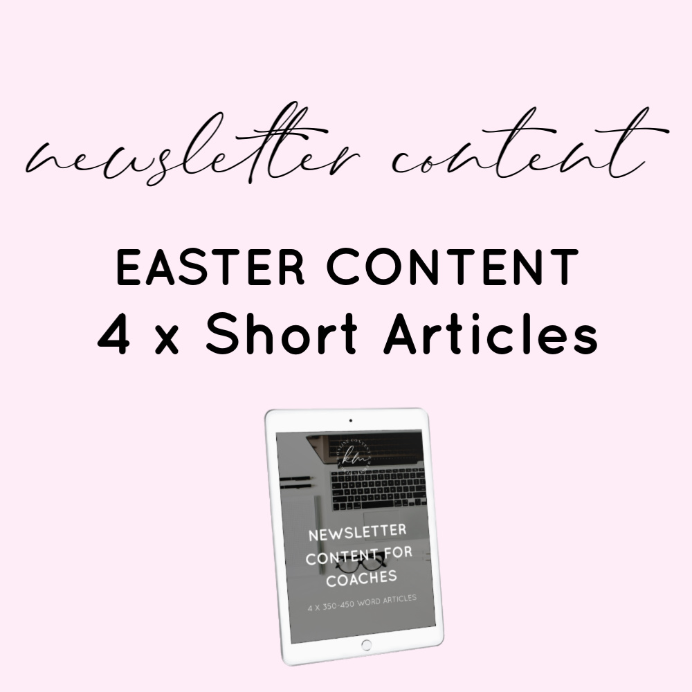 easter newsletter content