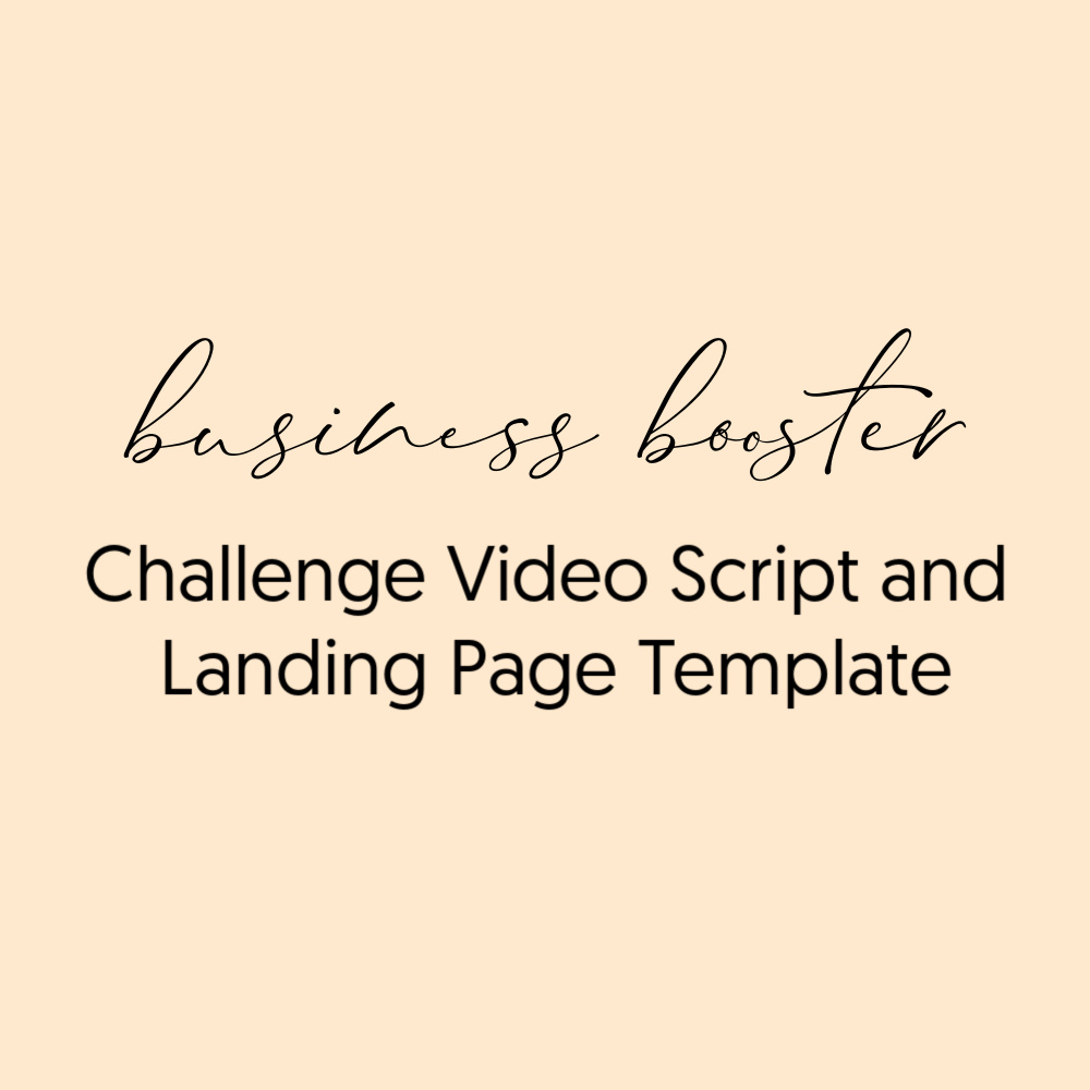 Business Booster Challenge script