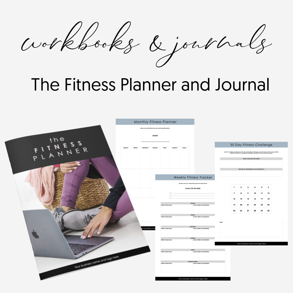 Done For You Editable Fitness Planner Workbook Journal