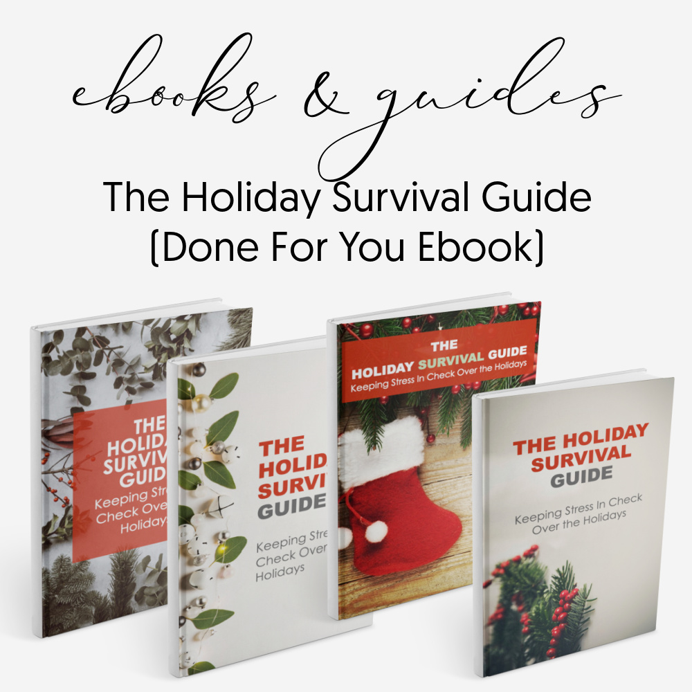 Holiday survival guide - done for you Ebooks guides