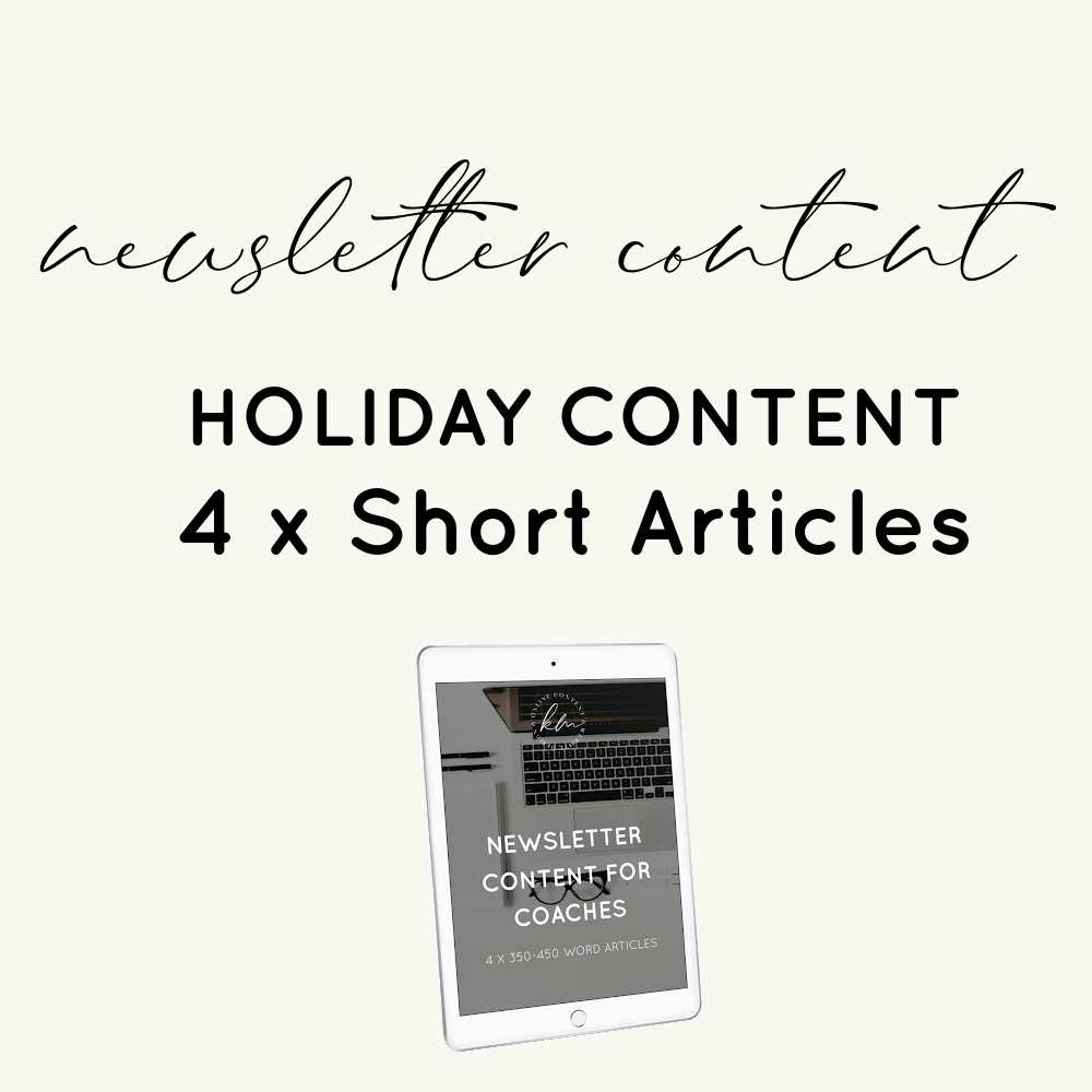 newsletter content holiday content