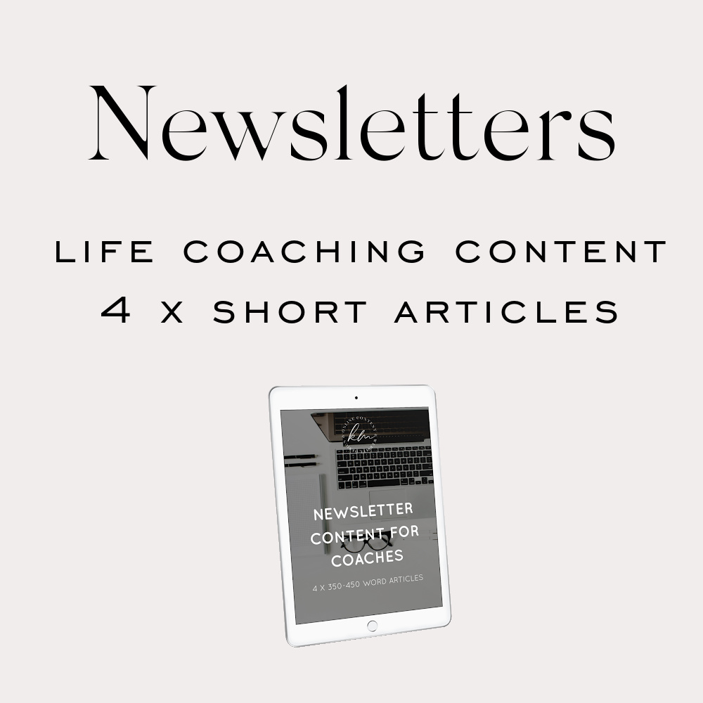 newsletter content life coaching content